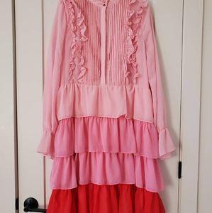 Amazing pink colour block dress